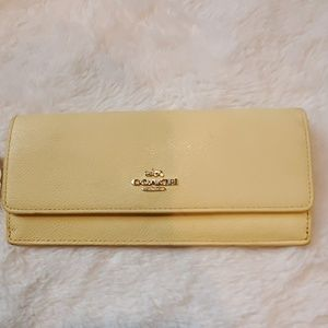 Coach Canary Yellow Envelope Wallet